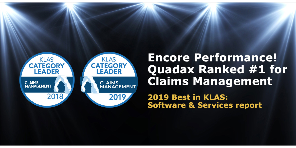 Encore Performance!  Quadax is #1 — Again!